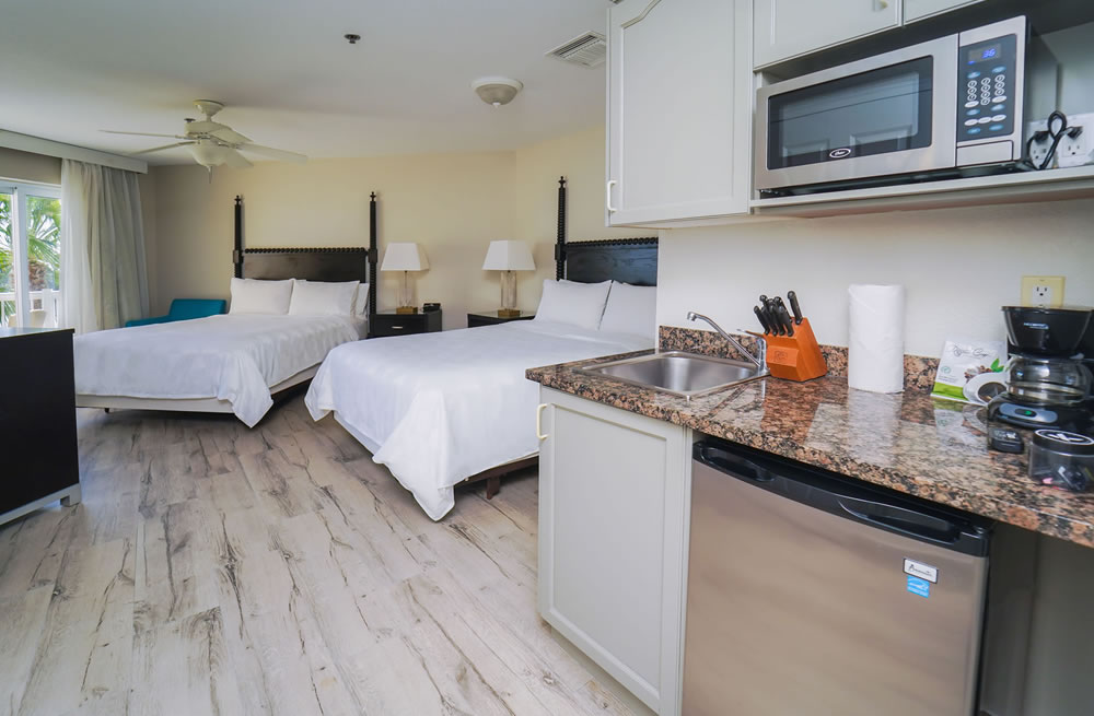 standard double beds room in grand cayman islands