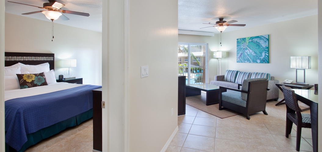 king bed suite with kitchen in grand cayman islands